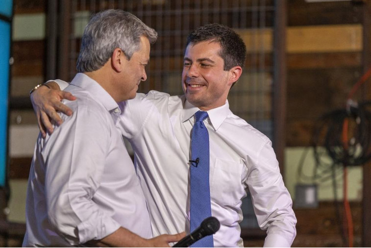 Pete Buttigieg with Mayor Steve Alder at the Austin Pete rally on 8/10/2019. Photo by Steven Spillman for the Statesman  (LINK)