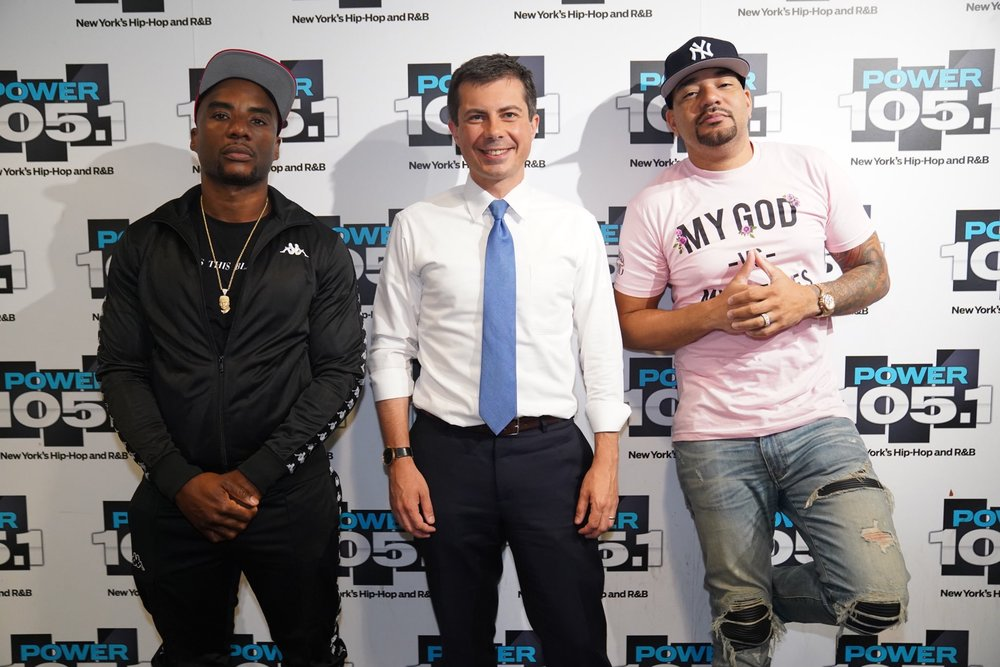 "Tweeted by Lis Smith: ""Tune into  @breakfastclubam  ⁩ tomorrow to hear  @petebuttigieg  and ⁦ @cthagod  discuss everything from Pete's Douglass Plan to the debates and Kevin Hart"" 9/5/2019"