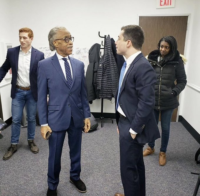 Back stage of Morning Joe, Jan 15, 2020. Posted by Rev Al Sharpton.