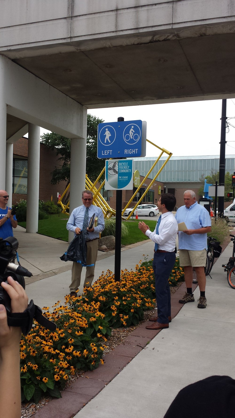 "South Bend is awarded a Silver level ""Bike Friendly City"" rating by Bike League."