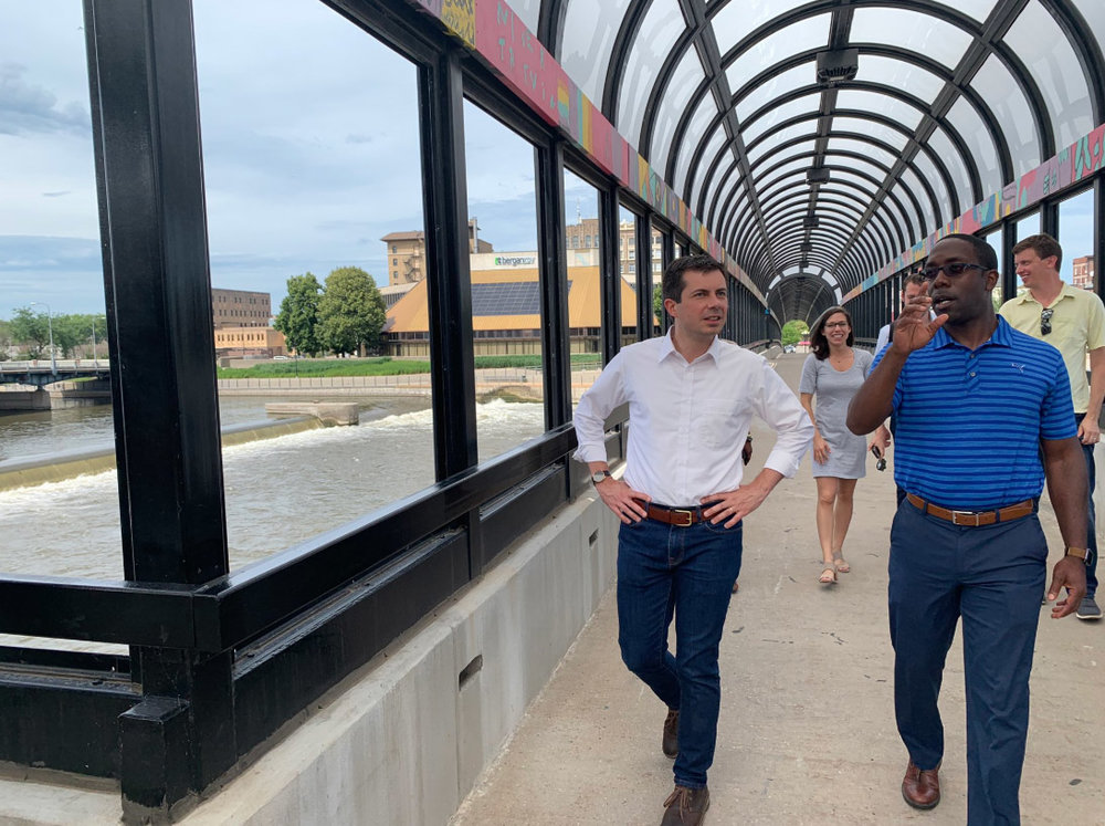 Getting a tour of Waterloo, IA from the mayor, Jun 13, 2019 - posted by DJ Judd on Twitter