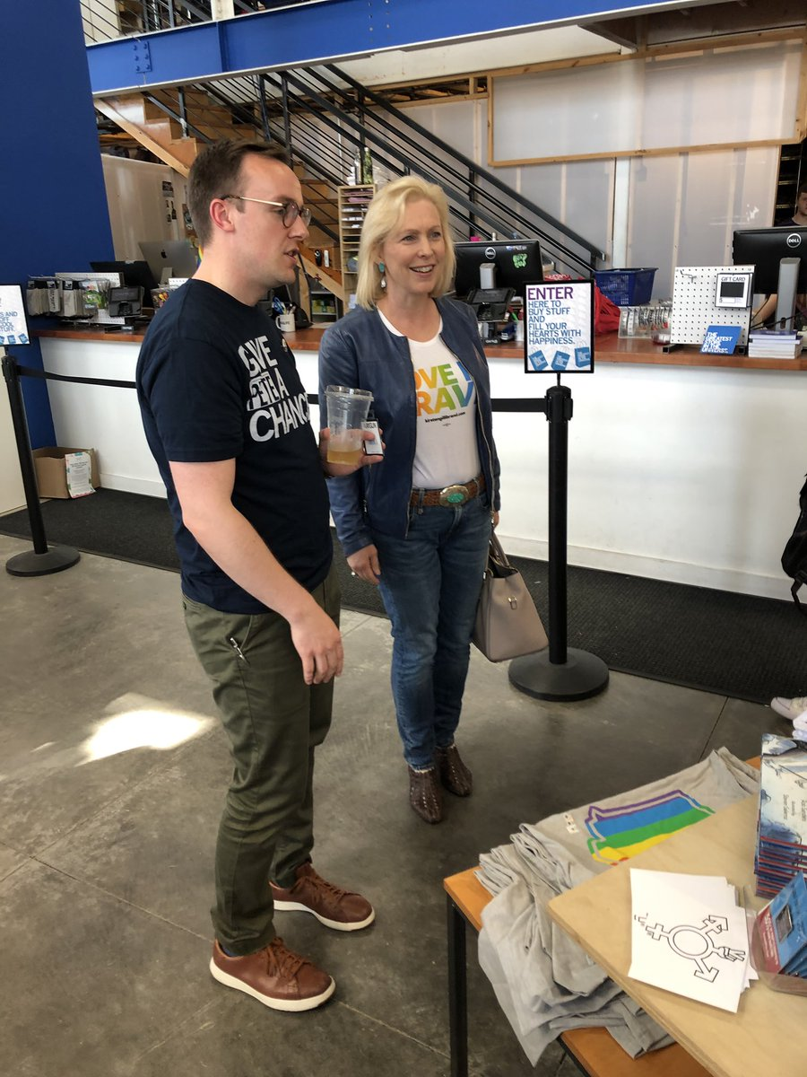 Shopping for Pride stuff with Kirsten Gillibrand