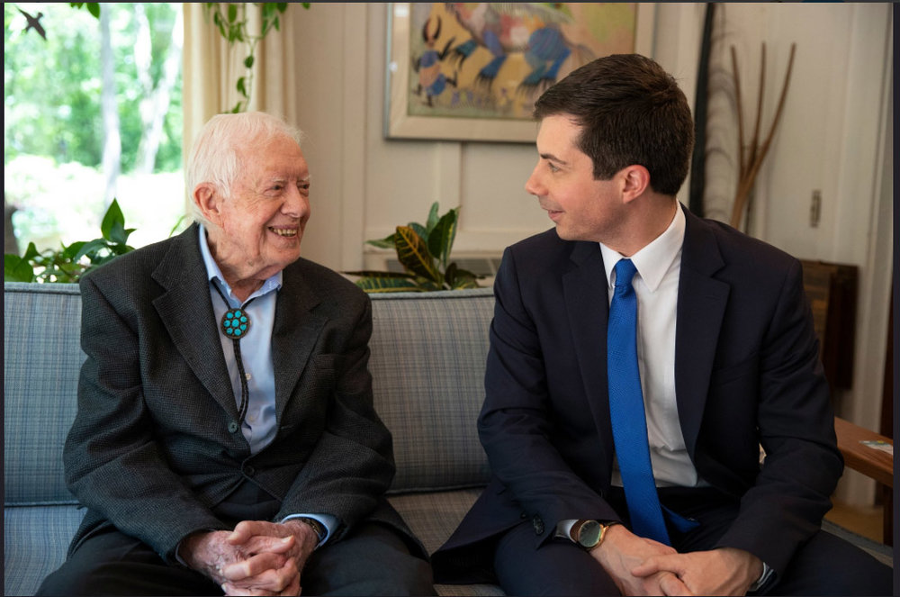 Pete and Chasten visited Jimmy Carter's church in Georgia., May 2019