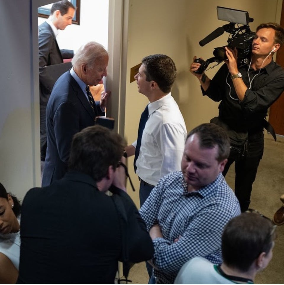 Meeting Joe Biden at the debates.