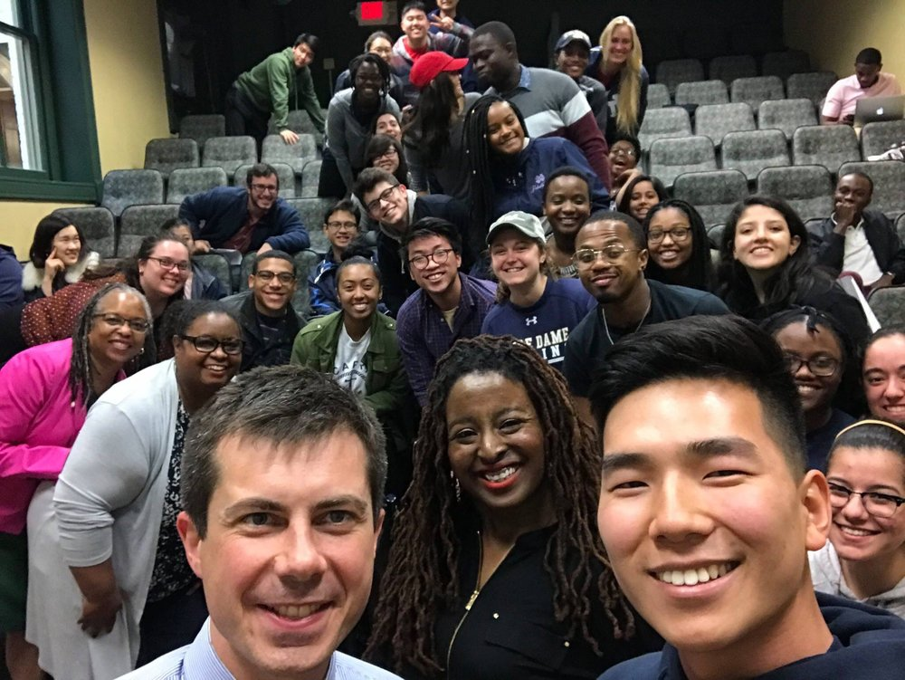 Pete with Notre Dame Diversity Panel
