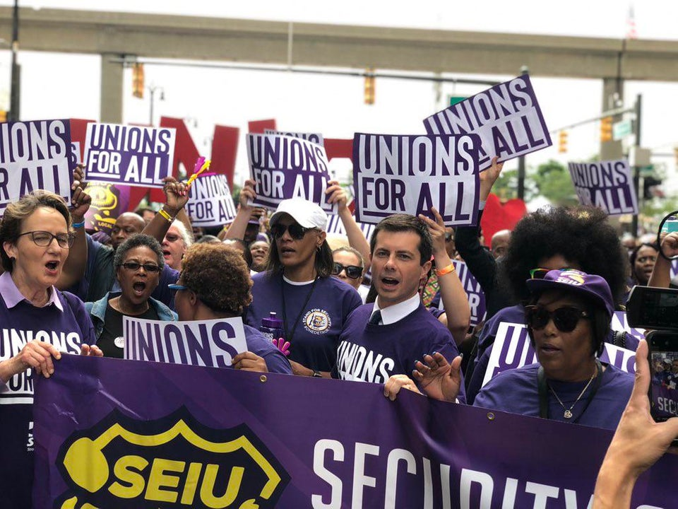 Marching with the SEIU union in Detroit on 7/30/2019