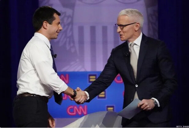 At CNN's Equality Forum on Oct 10, 2019 with Anderson Cooper.